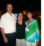 George Cobb, Karina Miglioranza and Laura McConnell at the 43rd IUPAC World Chemistry Congress in San Juan, Puerto Rico